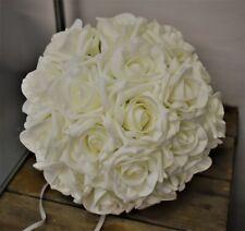 Wedding flower Bouquet Ivory White Diamante Package Bride Bridesmaid Buttonhole