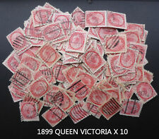 QUEEN VICTORIA 1899 USED X10 GREAT FOR COLLAGE/ART/SCHOOL PROJECT 119 YEARS OLD