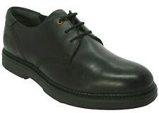 Mens Timberland Black Leather Casual Smart Formal Shoes Size UK 8.5 Eur 43