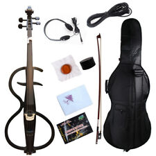 4/4 violoncello Black Electric Cello Solid wood Wonderful Sound Bag Bow Yinfente