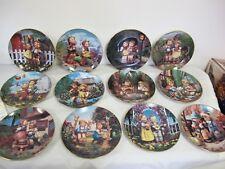 M.J. Hummel Danbury Mint Collector Plates (12) Little Companions Certificates