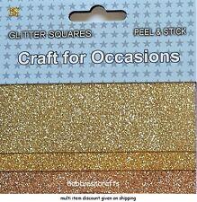 MÉTIER POUR OCCASIONS Peel & Stick paillettes carrés Pack de 3 différents dorés