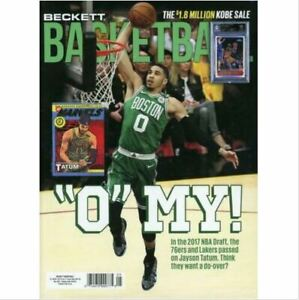 New May 2021 Beckett Basketball Card Price Guide Magazine With Jayson Tatum