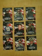 2008 Topps Football Armed Forces Fan of the Game Lot of 9 out of 11 + Checklist