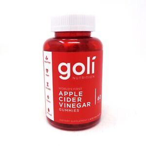 Goli Apple Cider Vinegar Gummies - 60 Gummy's Brand New Sealed 0627987249620