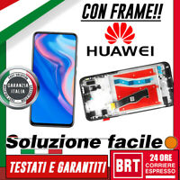 DISPLAY LCD+TOUCH SCREEN+FRAME PER HUAWEI P SMART Z STK-LX1 LX2 VETRO NERO +BRT!
