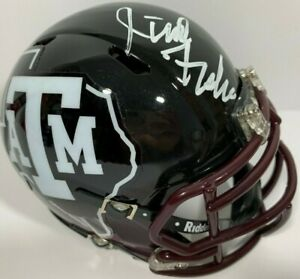 JIMBO FISHER SIGNED AUTOGRAPHED TEXAS A&M AGGIES MINI FOOTBALL HELMET PSA/DNA C