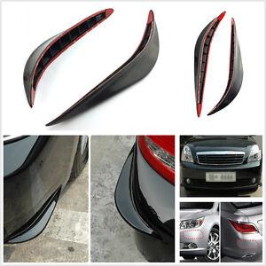 2 Pcs Auto Body Bumper Anti-rub Strips Exterior Decoration Protective Crash Bar