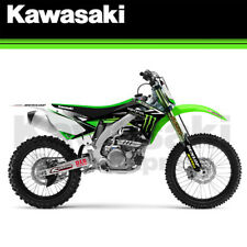 NEW 2012 - 2015 GENUINE KAWASAKI KX450F TEAM MONSTER ENERGY GRAPHICS KIT 2020724