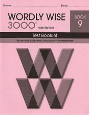 Wordly Wise 3000 Grade 9 Tests NEW  *3rd edition*
