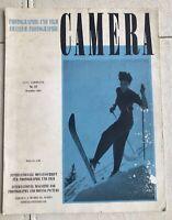 Vintage CAMERA magazine No 12 1947 Swiss Ski philippe halsman 40s photography