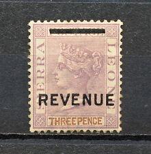 (NNAS 112) SIERRA LEONE 1892 MH REVENUE CA