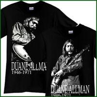 DUANE ALLMAN BROTHERS Rock Band Tribute Black T-Shirt TShirt Tee Size S-3XL