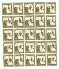 Judaica Palestine Block Of 25 Stamps Pictorial 20 Mils