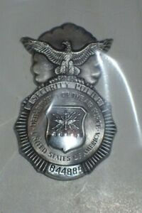 Badge Identification Security Police Air Force USAF Mini Unissued #B44885 Scarce