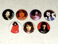 7 Buttons 1 Inch Pin Kate Bush Hounds of Love Dance Red Makeup - Lot B