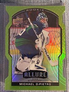 Michael DiPietro 2020-21 Allure Green Quartz Rookie 44/99 Canucks Plus 3 More RC