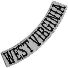 """VEGASBEE® WEST VIRGINIA REFLECTIVE EMBROIDERED IRON-ON PATCH LOW ROCKER 13"""""""