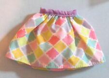 Barbie Pastels Diamond Print Squares Skirt