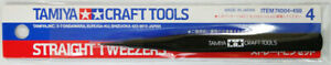 Tamiya Craft Tools Straight Tweezers 74004  Made in Japan