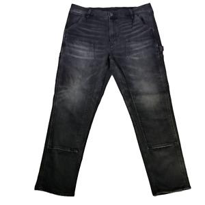 American Eagle Mens Carpenter Jeans 36X32 Flex 7 Pocket/Double Knee Black