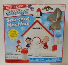 Snoopy Sno-Cone Machine with Peanuts Opened Box 2015