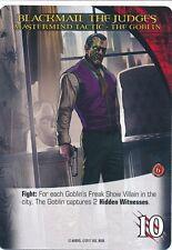 GOBLIN Upper Deck Marvel Legendary NOIR MASTERMIND TACTIC BLACKMAIL JUDGES