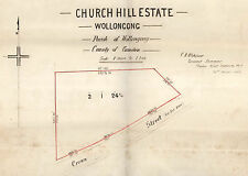 Wollongong NSW Building Plans 1885-1890s Crown & Corrimal Streets, pen&ink plans