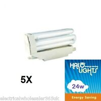 5 x 24W R7s 117mm Energy Saving Lamp (=120W) 4000K Cool White 1200Lm HLO7724