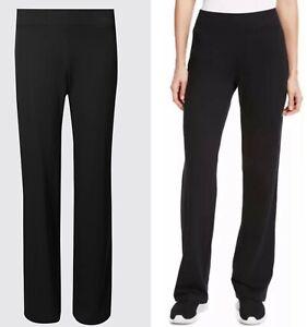 Ladies M*S Black Joggers Women's Stretch Yoga Gym Lounge Trousers Bottoms PLUS