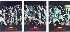 Marvel Masterpieces 2007 Complete Alex Ross Splash Chase Card Set #1-3