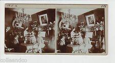 █ Vue Stéréoscopique / Stéréo : 1916 Intérieur d'un appartement bourgeois Piano