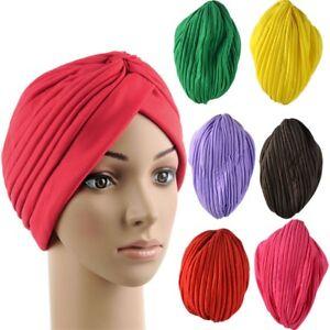 Stylish Vintage Indian Satin Bonnet Turban Hat Head Wrap Cap Headwrap