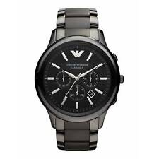 * NUOVO * EMPORIO ARMANI AR1451 Nero In Ceramica Opaca MEN'S WATCH-Rrp £ 399.00