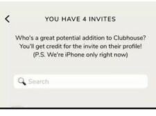 Clubhouse App Invite-Instant Access (IOS Only)