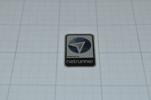 Powered by Netrunner Linux Metal Decal Sticker Computer PC Laptop Badge