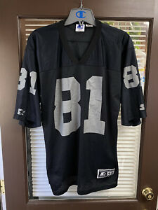 Vintage STARTER Oakland Raiders TIM BROWN #81 NFL Football Jersey 48 Large Vtg