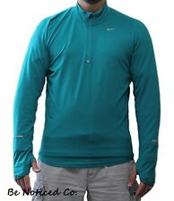 Nike Dri-FIT Element Half-Zip Men's Running Shirt L Teal Green Gym Training New
