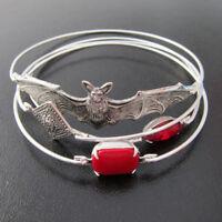 Fashion Women Halloween Bat Bangle Bracelet Wristband Beautiful Jewelry Gift DIY