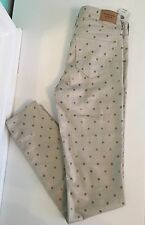 NWT Abercrombie Fitch Womens Mid-rise gold with dots jegging size 0R