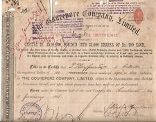 1896 India share: The Gourepore Company Limited owner Sir Patrick Playfair C.I.E