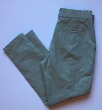 """LACOSTE Women's Green Khaki Chino Pleated Dress Pants Size 34 (waist 28"""")"""
