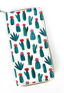 Green Cactus Print Wallet