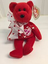 ~Decorated with Hearts ~RED Love Bear TY BEANIE BABIES Artist TERRI SOPP RAE