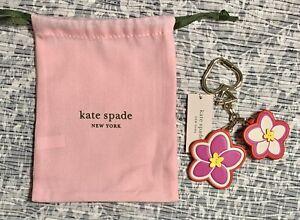 NEW Kate Spade Hawaii Exclusive Leather Flower Bag Charm Pink Multi 1KRU1028