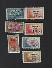 Madagascar sc#229,231-2,234-7 (1942) MLH