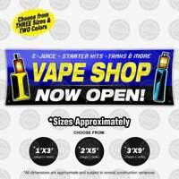 VAPE SHOP Now Open Sign Banner Colorful Display Indoor Outdoor Vinyl Hang Poster