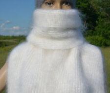 Russian Cashmere Mohair Angora Snuggie SCARF 100% organic goat down fuzzy fluffy