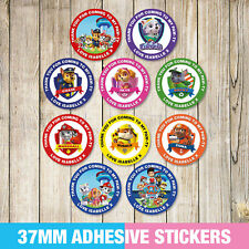 Paw Patrol Party Stickers, Thank you, Sweet cone Labels x 35