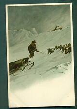 ARTIC EXPLORATION,NANSEN ,MAN WITH DOGS & SLED,vintage postcard